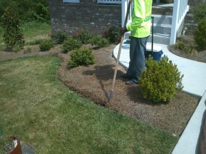 rock landscaping nolensville 2 before
